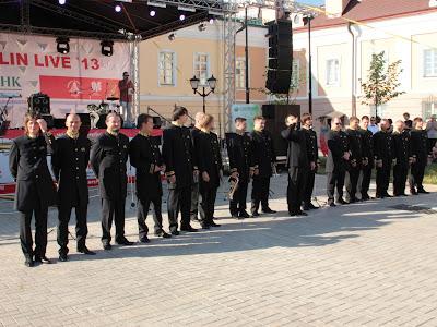 Российский роговый оркестр в Казанском кремле