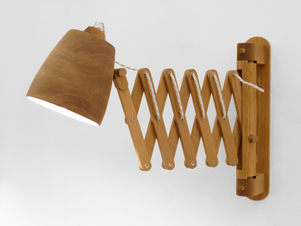 Homebuildlife wooden lights by channels finnieston wall lamp by samuel chan mozeypictures Images
