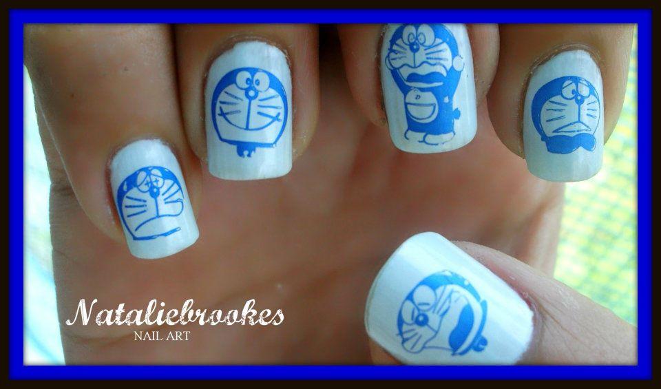 Nataliebrookes Nail Art Doraemon Nail Art