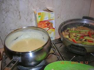 lasagne al forno con verdure c on besciamella  e crem cresch---medaglioni  di noce di maiale farciti