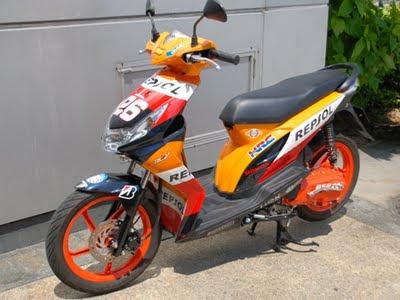 Modifikasi Honda Beat untuk Balapan