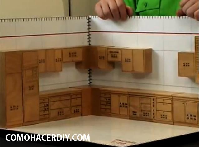 Muebles de cocina para armar de papel for Planos muebles de cocina para armar