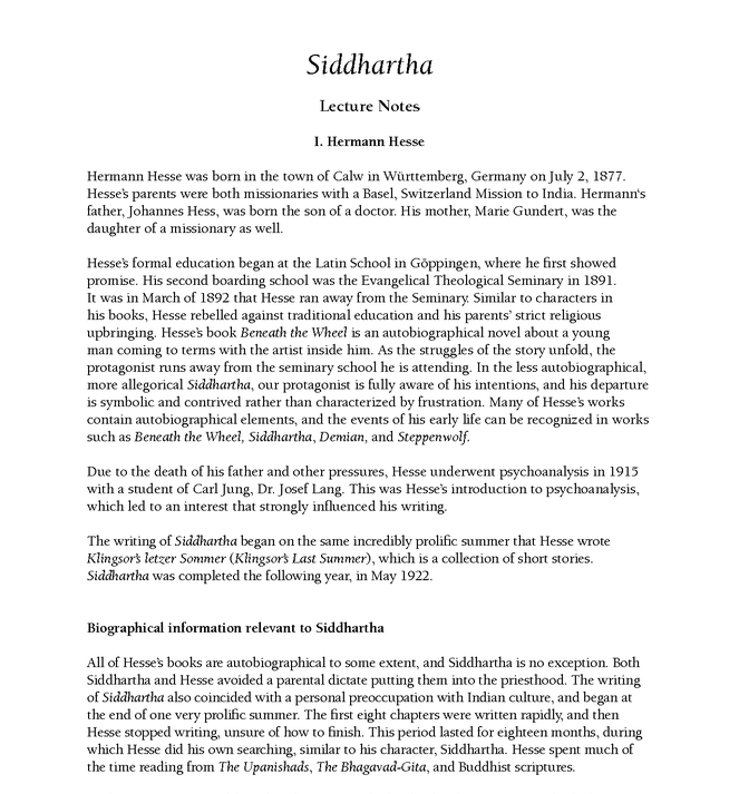 siddhartha ap prep questions Explore timing and format for the ap english literature and composition exam,  and review sample questions, scoring guidelines, and sample student.