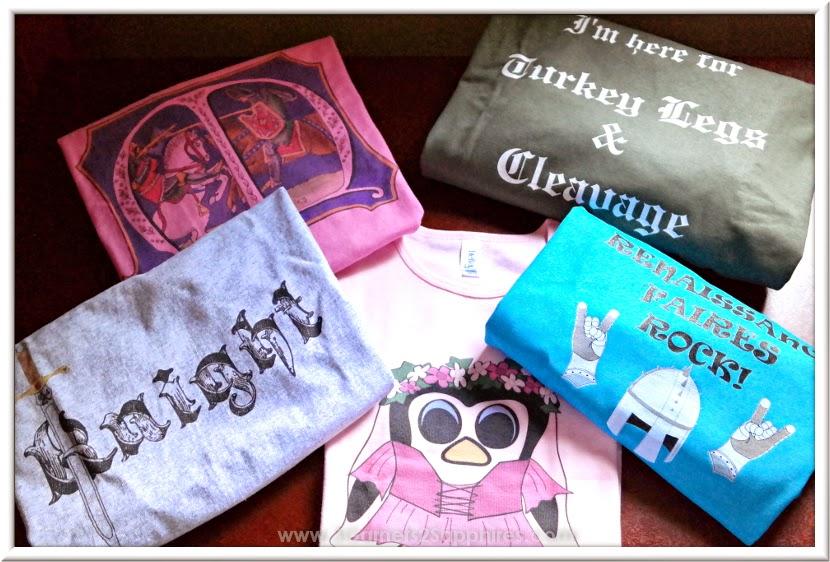 Zazzle Renaissance Faire T-Shirts for King Richard's Faire 2014     www.3Garnets2Sapphires.com