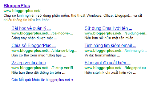bloggerplus sitelink