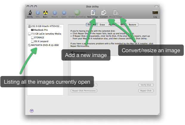 how to create disc image mac