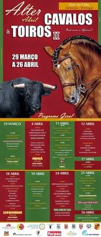 Alter do Chão- Cavalos & Toiros 2015- 29 Março a 26 Abril