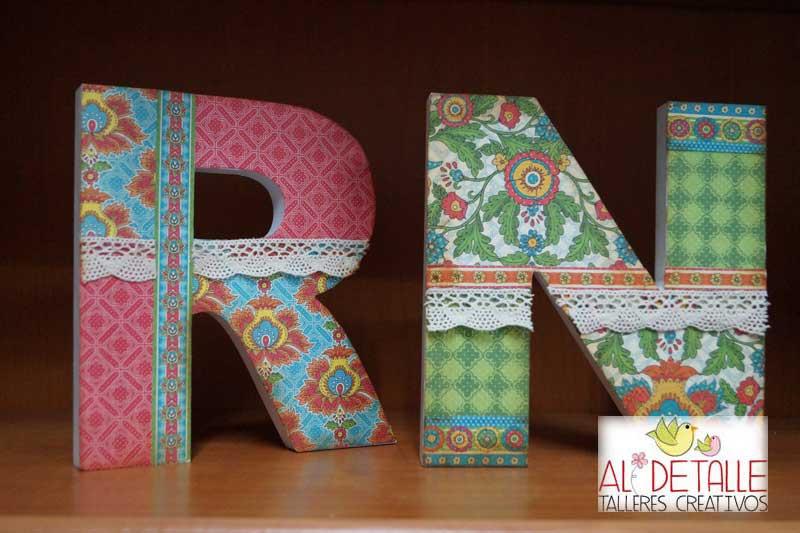 Rosabel manualidades letras decoradas - Letras de corcho decoradas ...