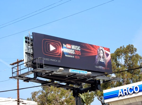 YouTube Music Awards 2015 Tinashe billboard