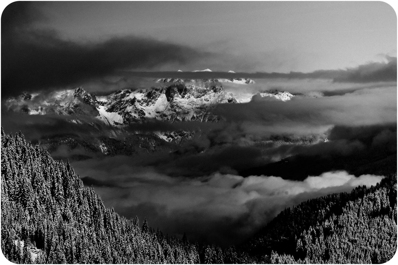 Alpy austriackie. Zauchensee. Czarno-biała fotografia krajobrazowa. fot. Łukasz Cyrus