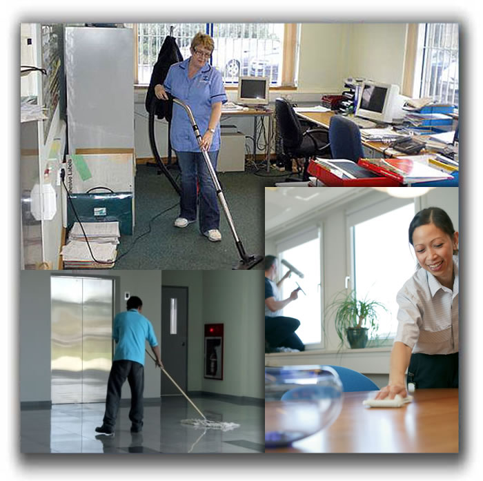 how to clean an vacant office