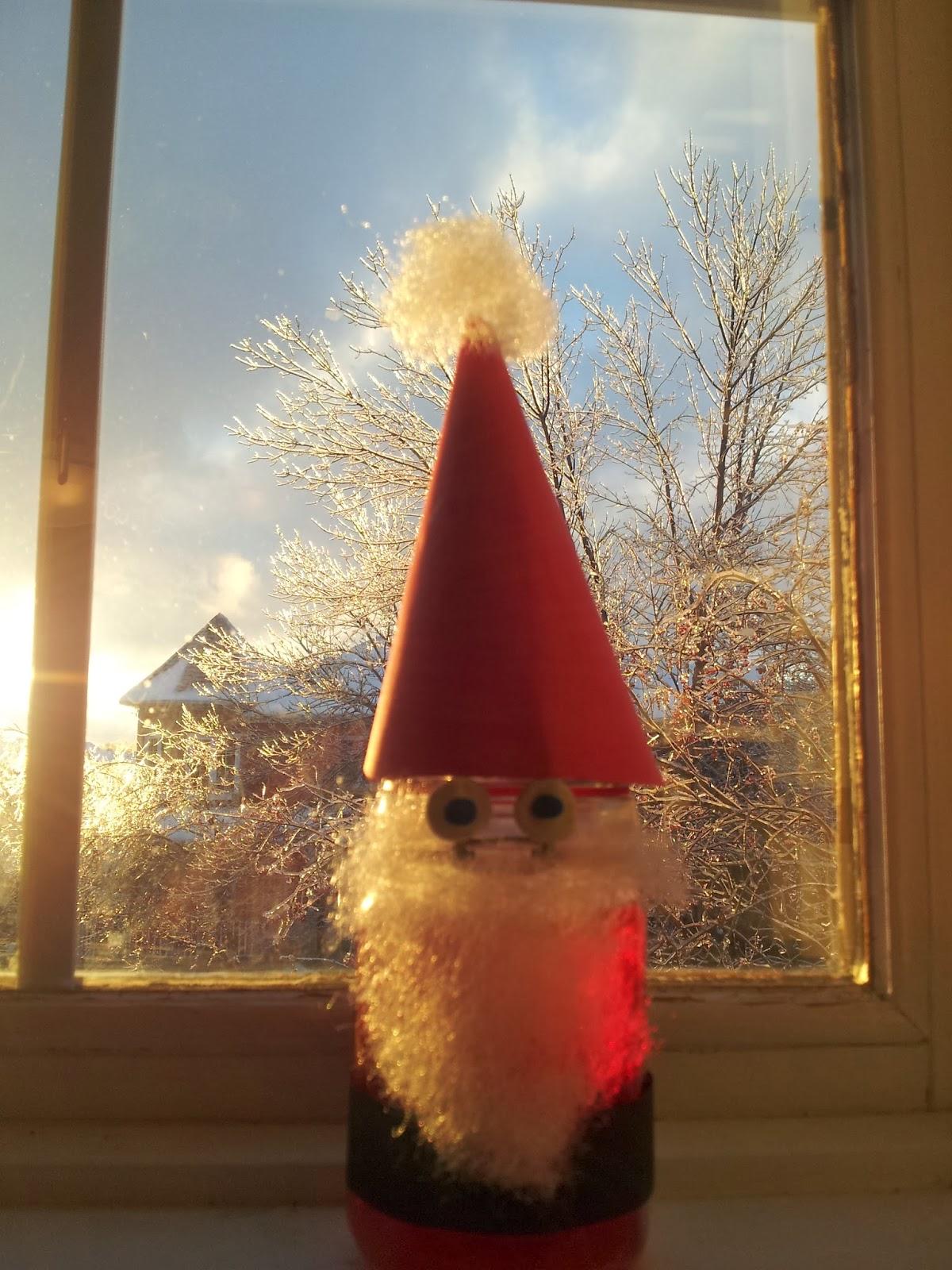Glass Jar Santa Craft, crafts, kids crafts, Christmas crafts