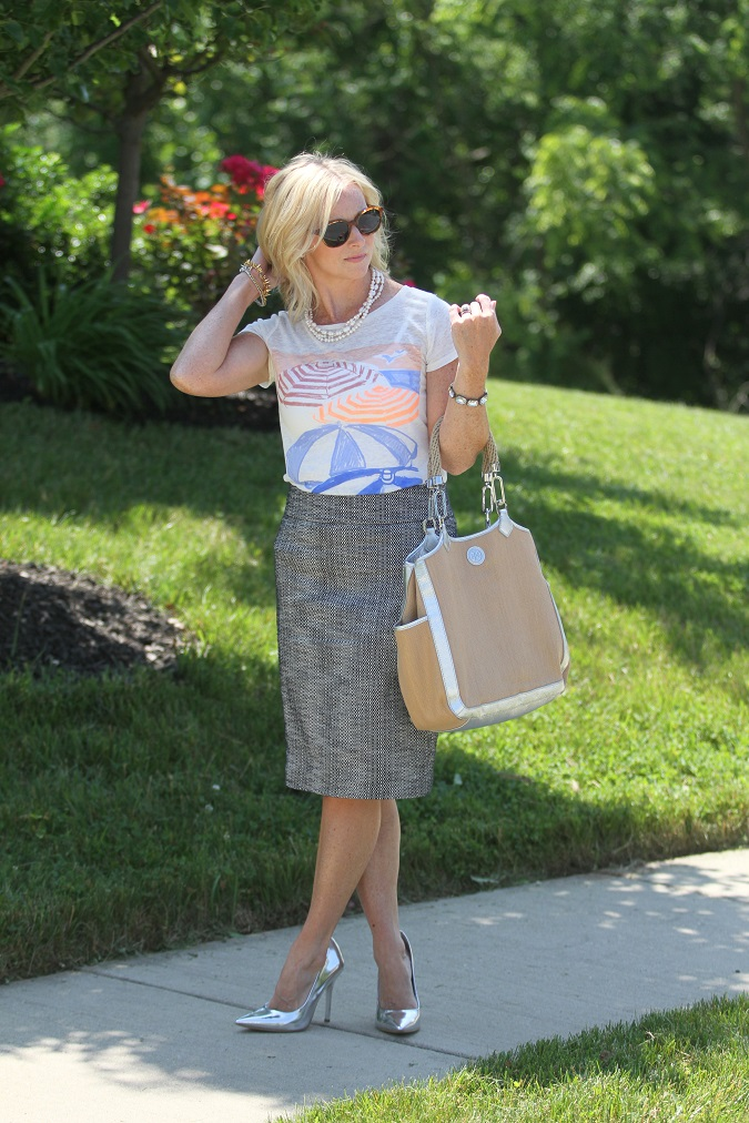 JCrew, Loft, stuart weitzman, elizabeth and james, Tory Burch, Simply Lulu Design, Stella Dot, jcrew factory, straw tote, tweed skirt, LosPhoto, Simply Lulu Style, mama said monday,