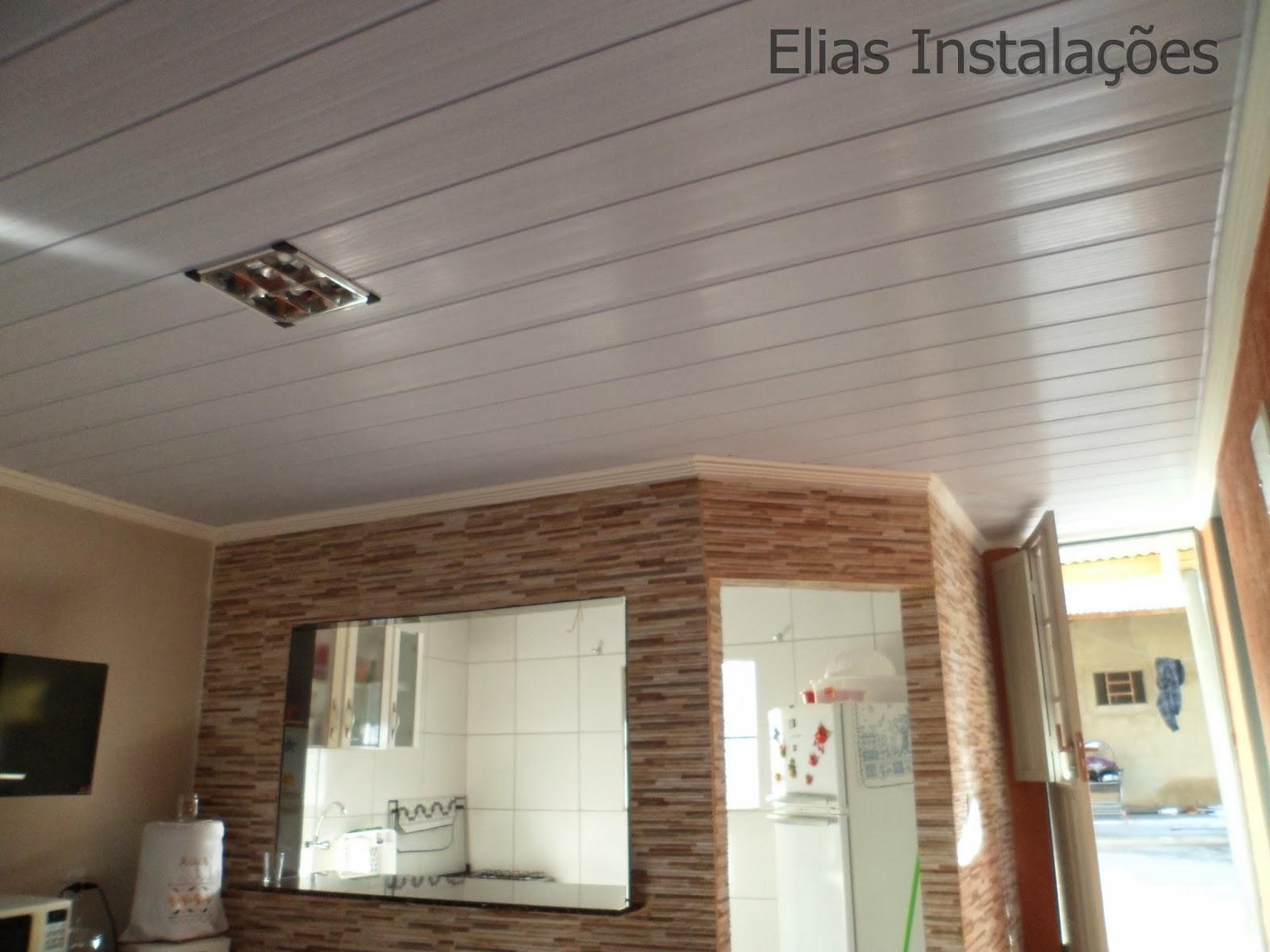 Elias Instalador: Cozinha com Forro Branco e Roda teto de Gesso #624935 1600x1200 Banheiro Com Janela Na Laje