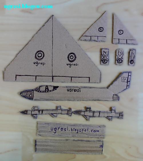 basit, el, ev, için, kartondan, kağıttan, maket, modeli, origami, oyuncak, oyunu, savaş, ugrasi, uçağı, uğraşı, yapımı, çocuklar