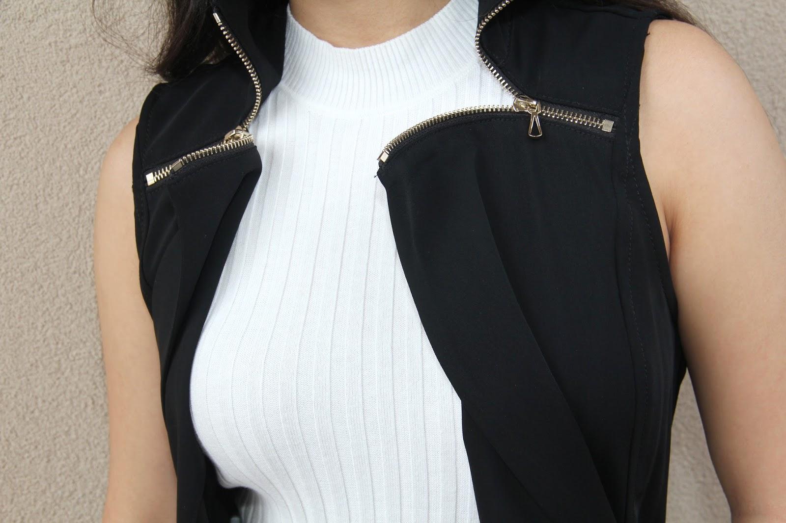 Black Drape Vest @ Elizabeth, Marie, & Me