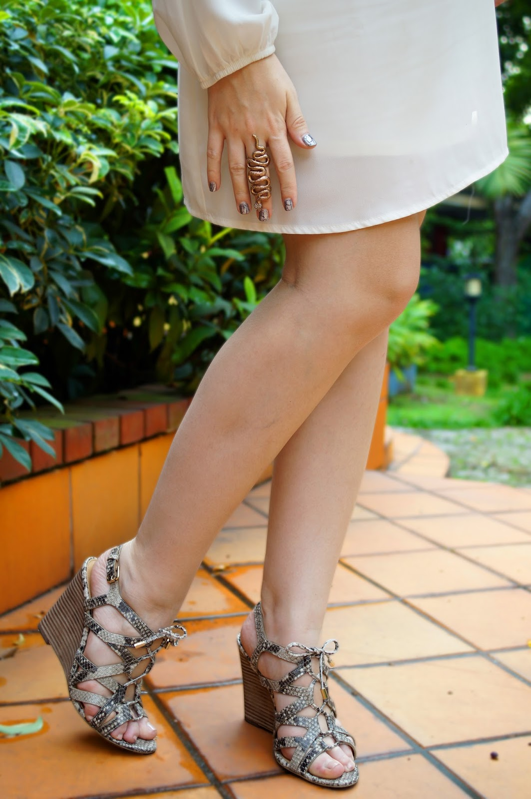 Coach Shoes, Snakeskin Wedges