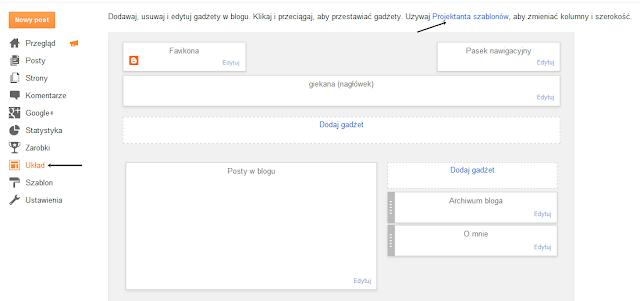 jak wyśrodkować tytuł posta i datę - blogger - arkusz CSS
