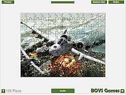 Game xếp hình máy bay, chơi game xếp hình hay