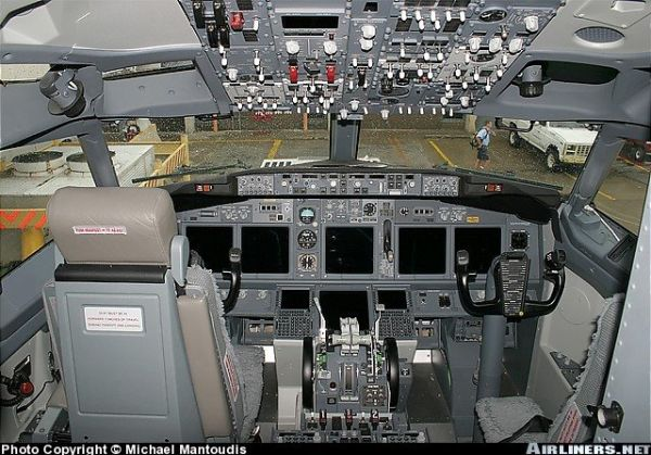 Gambar Pesawat Terbang Ruang Pilot BOEING 737-400-VVT-I