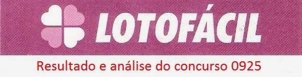 resultado da lotofacil 0925 Resultados de loterias: concurso 0925 da lotofácil