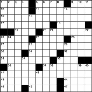 American style crossword grid