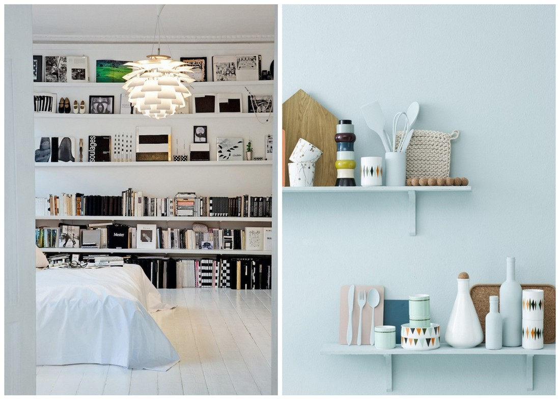 Le petit luxe small spaces wall shelves - Small space shelves concept ...