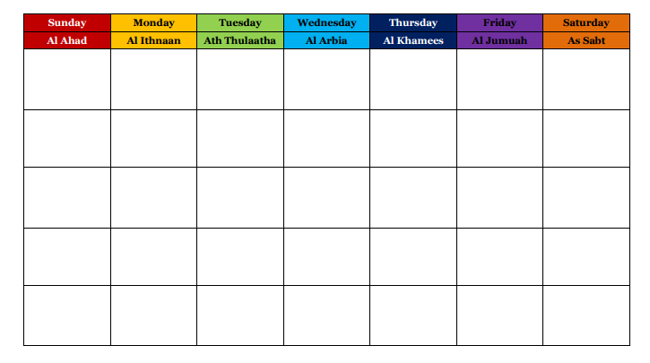 Homeschool chore chart template