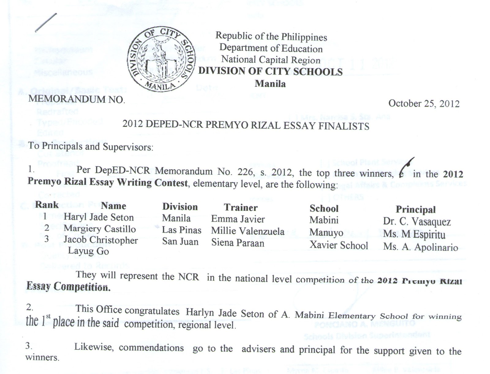 2012 premyo rizal essay writing contest winners