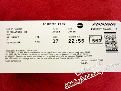 angry bird boarding pass