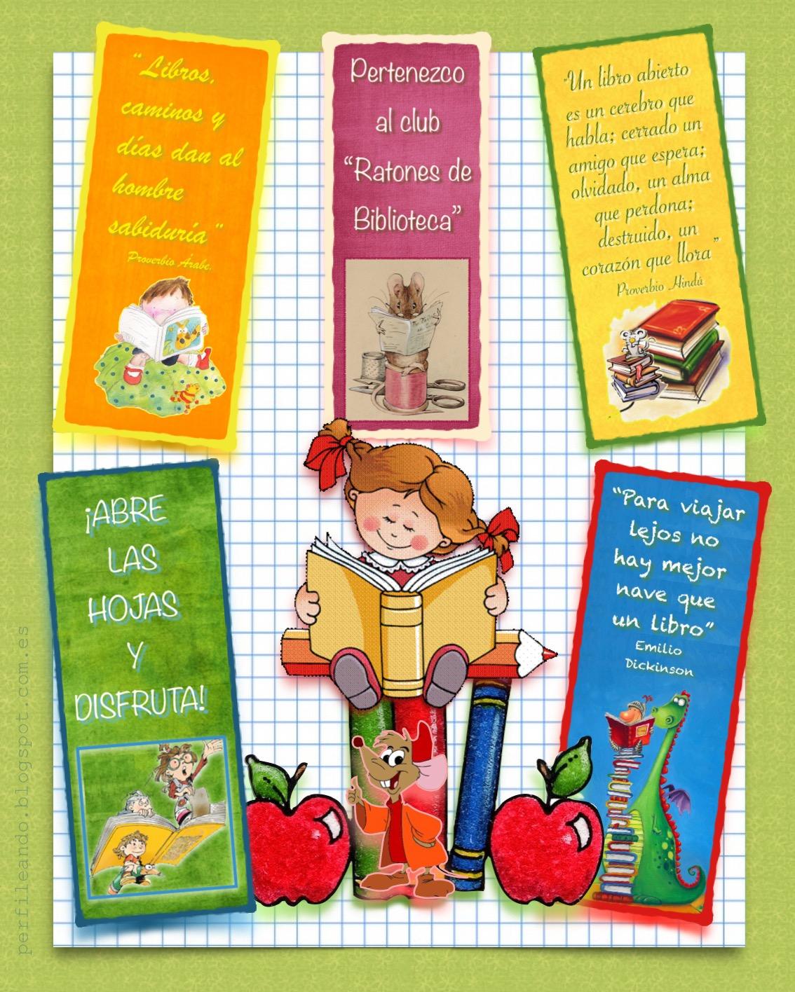 Perfileando l minas y decoraci n escolar d a del libro for Laminas de decoracion
