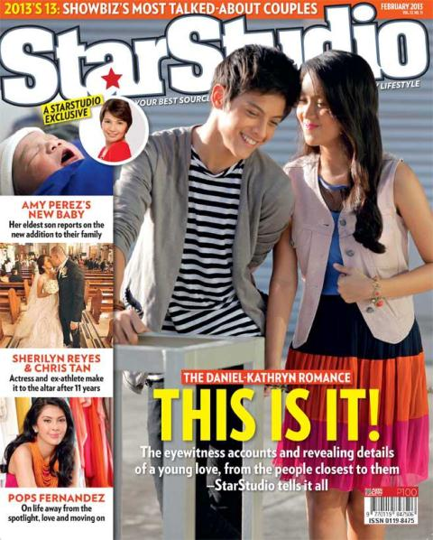 Kathryn Bernardo and Daniel Padilla Cover StarStudio February 2013 Issue