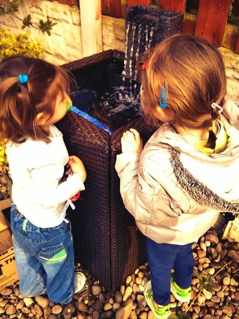 Girls watching the fish