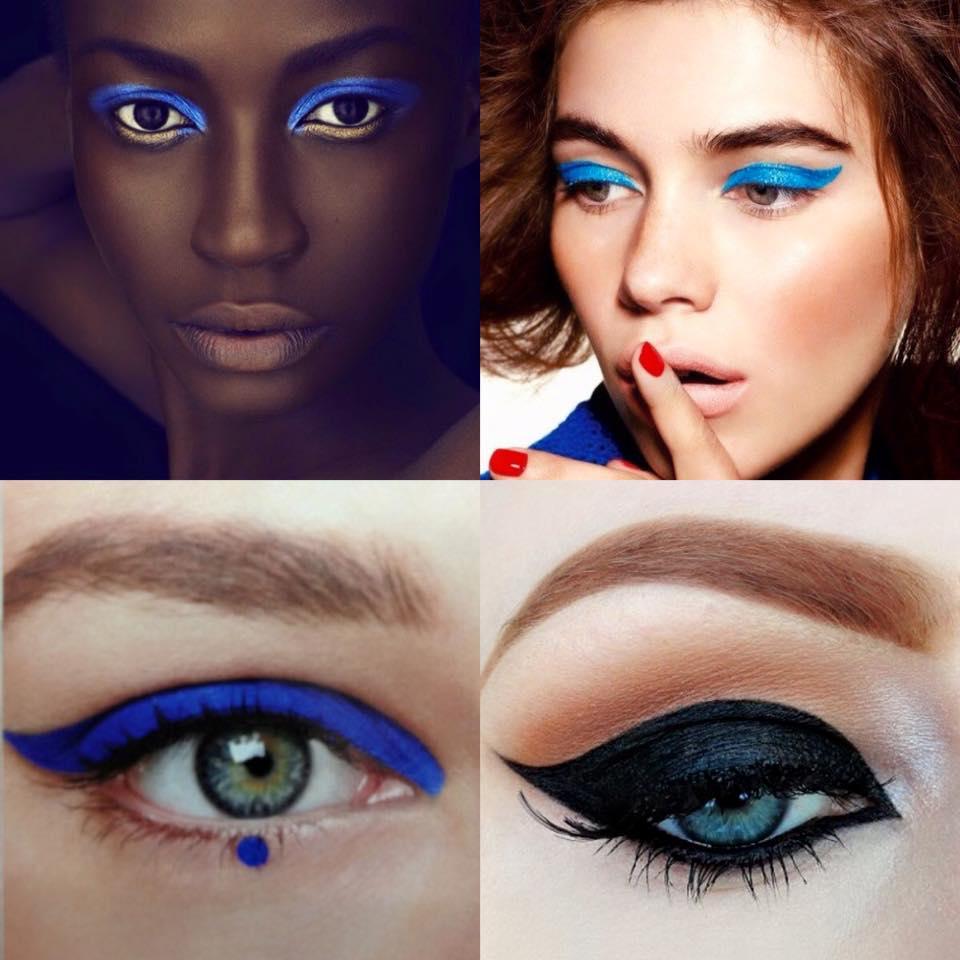 Beauty Magic Box Bold Blue Cat Eye Makeup Look