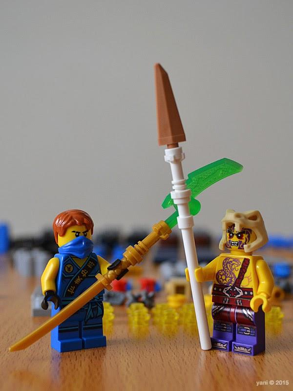 lego ninjago electromech - ninja jay and cultist chope