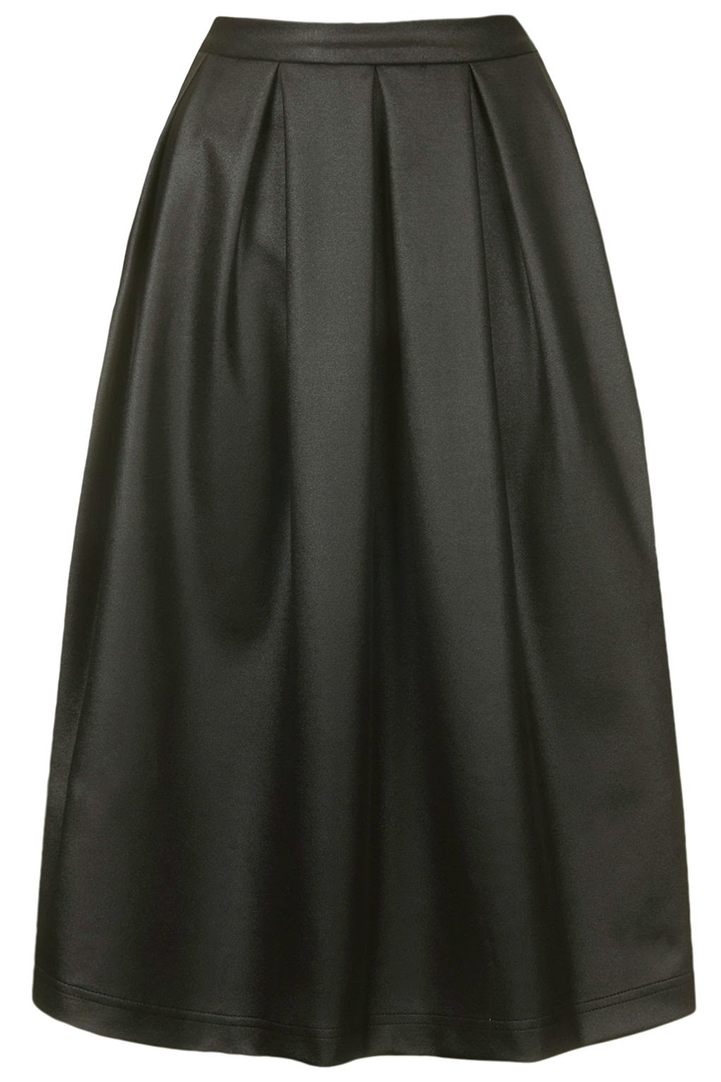 coated black skirt