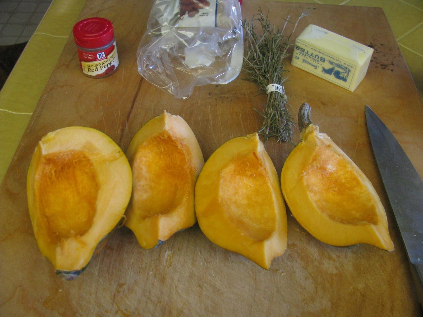 Shamrocks and Shenanigans: Sweet Roasted Rosemary Acorn Squash Wedges