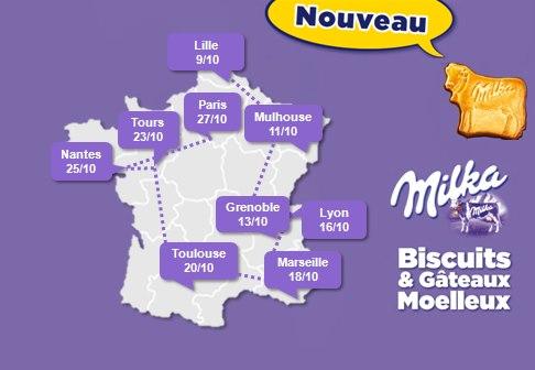 Dégustation Milka gratuite en France
