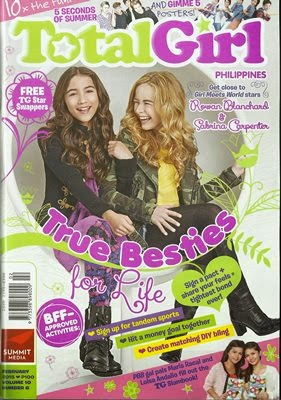 tweens, magazine, Total Girl, magazine cover, BFF