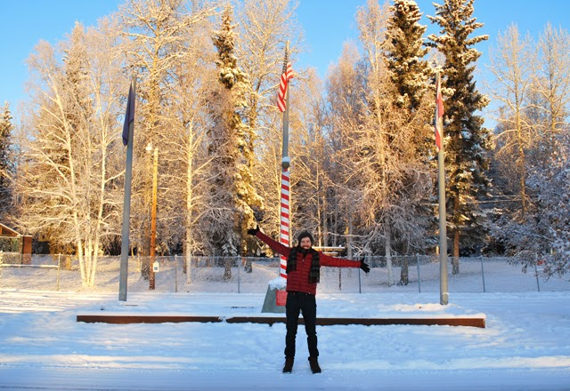 "The ""North Pole"" in the town of North Pole, Alaska, just outside of Fairbanks 