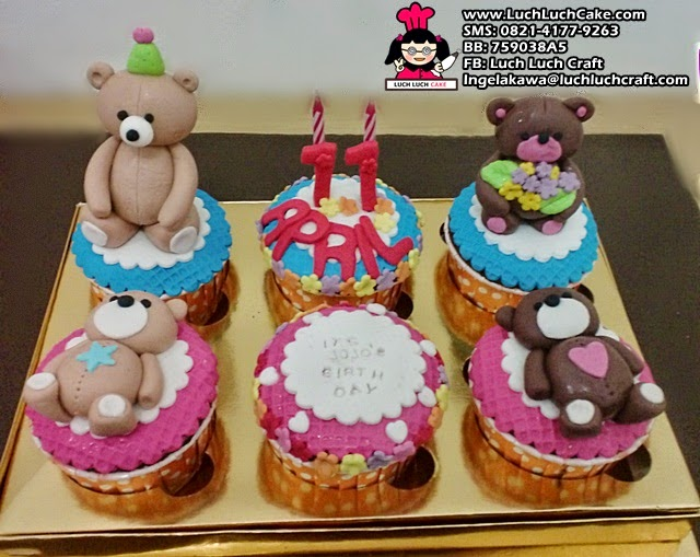Cupcake Beruang Teddy Bear