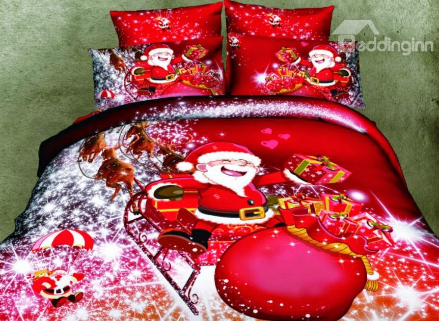 http://www.beddinginn.com/product/Father-Christmas-And-Christmas-Gift-4-Piece-Cotton-Duvet-Cover-Sets-11003696.html
