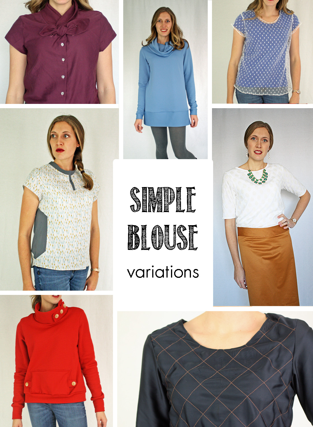 Running With Scissors: Simple Blouse PDF Sewing Pattern