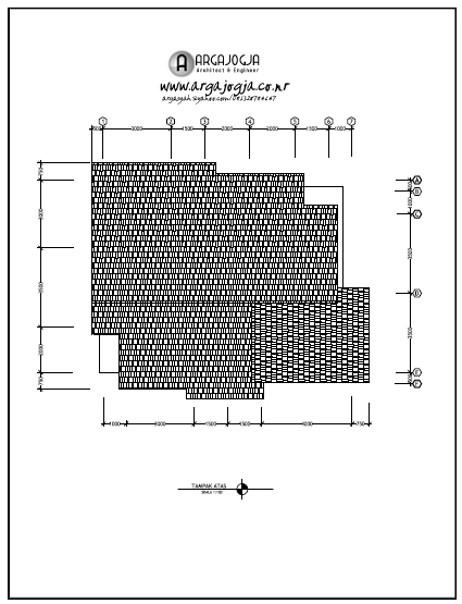 contoh gambar kerja dan desain jasa desain paket a