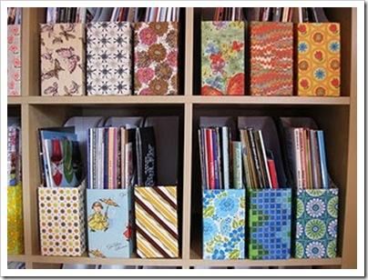 Dicas do mundo da criatividade reaproveitando caixas usadas - Ideas para organizar papeles en casa ...