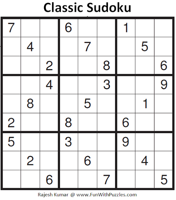 Classic Sudoku (Fun With Sudoku #151)