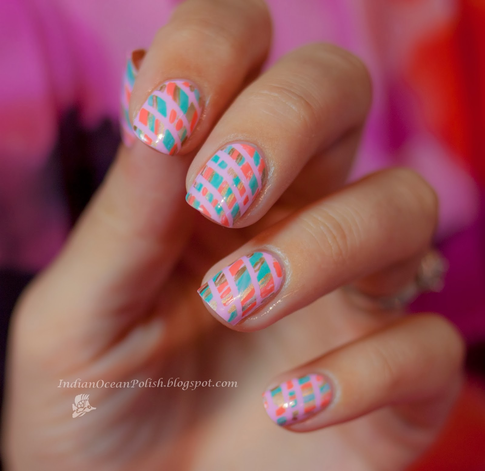 Indian Ocean Polish: Striping Tape Mani with OPI Mod About You ...