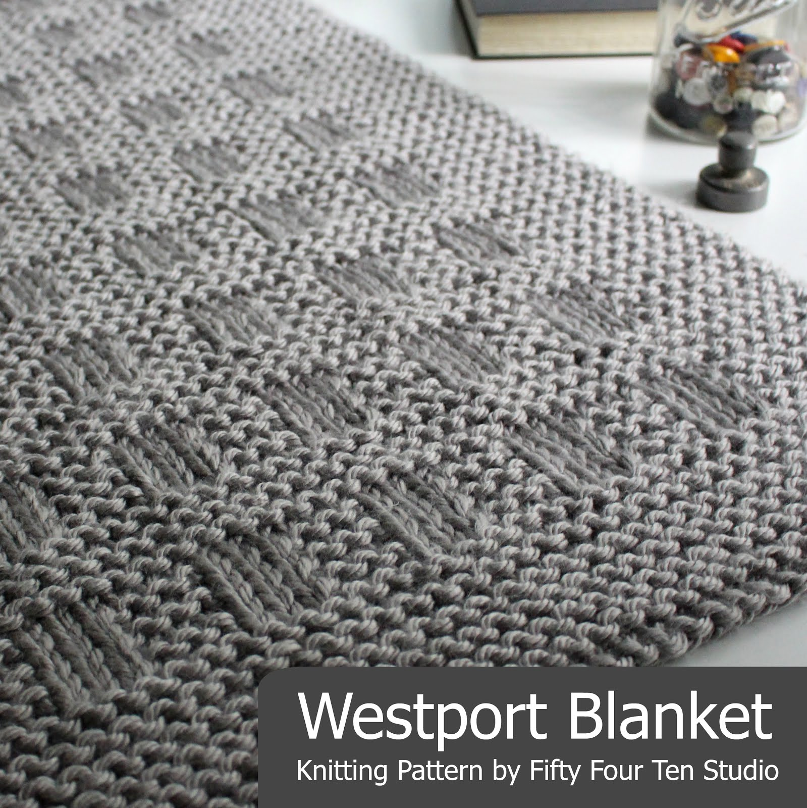 Fifty Four Ten Studio: Brookside Blanket Knitting Pattern - New!