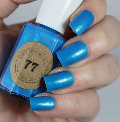 Seventy Seven Nail Lacquer Blue Bombshell by Bedlam Beauty