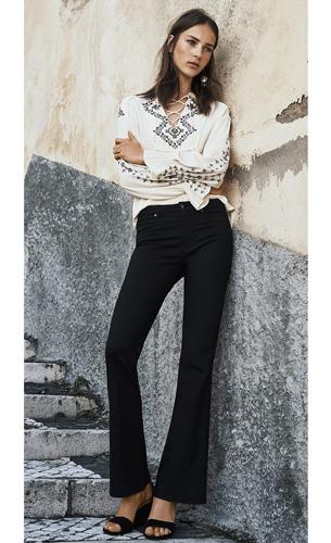 moda H&M pantalones vaqueros mujer otoño invierno